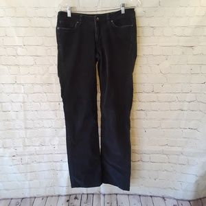 Ladies dark gray Patagonia corduroy pants size 28